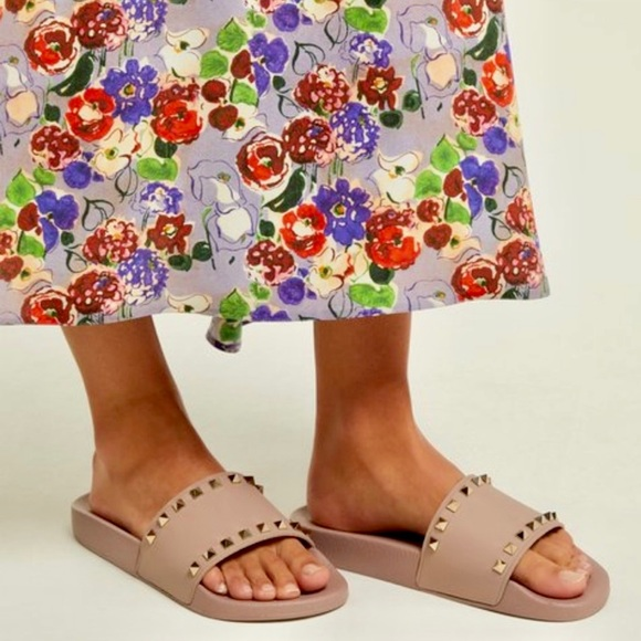 0898f9e27a Valentino Shoes | Sold On Tradesy Rockstud Slides | Poshmark